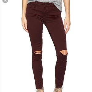 DL1961 Margaux Ripped Malbec Ankle Skinny Jeans